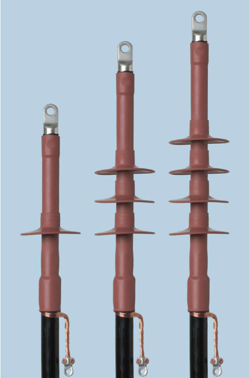 Концевые муфты POLT внутренней и наружной установки для экранированных одножильных кабелей с пластмассовой изоляцией на напряжение 10,20 и 35кВ